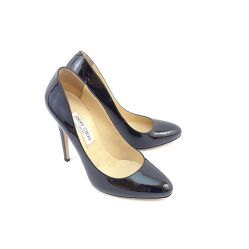 Jimmy Choo 'Victoria' Black Patent Leather