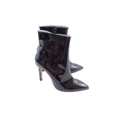 Alexa Chung Black Patent Leather Ankle Boots