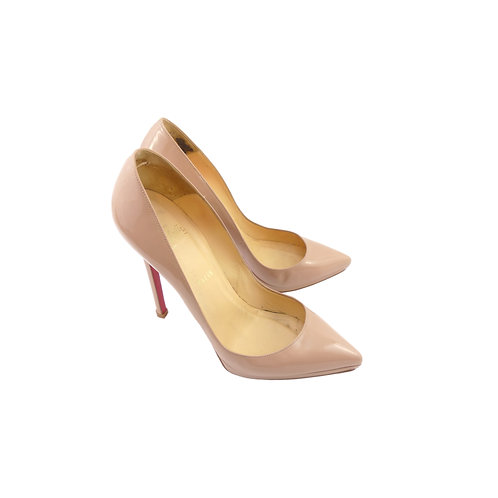 Christian Louboutin 'Pigalle Plato 120' Nude Patent Leather