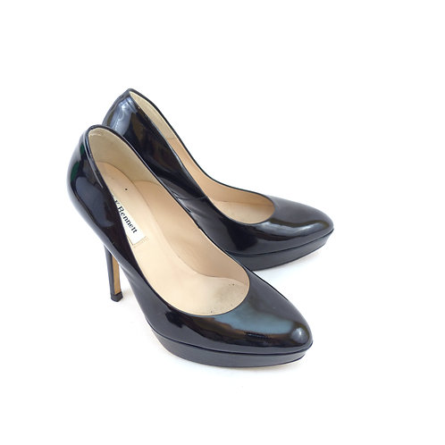L.K. Bennett 'Andie' Black Patent Leather