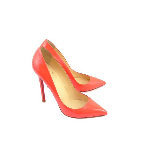 Christian Louboutin 'Pigalle 120' Fluo Hot Pink Patent Leather