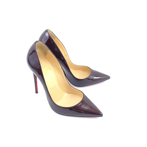 Christian Louboutin 'So Kate' Rouge Noir Metal Patent Leather