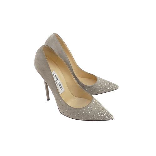 Jimmy Choo 'Anouk' Pebble Suede Silver Studs Degrade