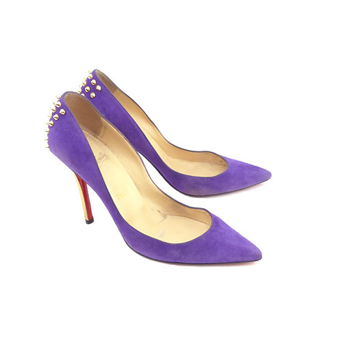 Christian Louboutin 'Zappa' 100 Violet Suede