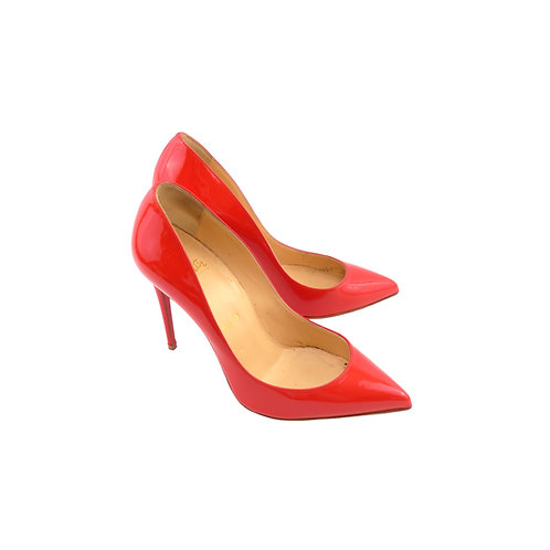 Christian Louboutin 'Pigalle Follies' 100 Red Patent Leather