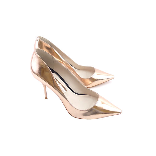 Sophia Webster 'Lola' Rose Gold Mirrored Leather