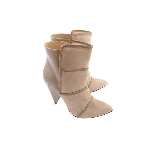IRO 'Naade' Beige Taupe Suede & Leather Ankle Boots