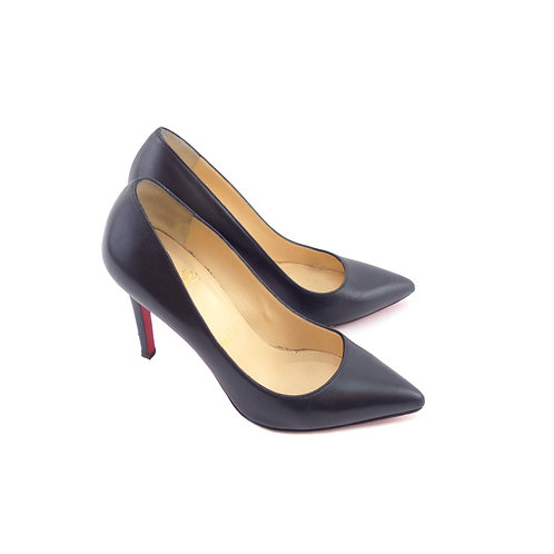 Christian Louboutin 'Pigalle 100' Black Kid Leather