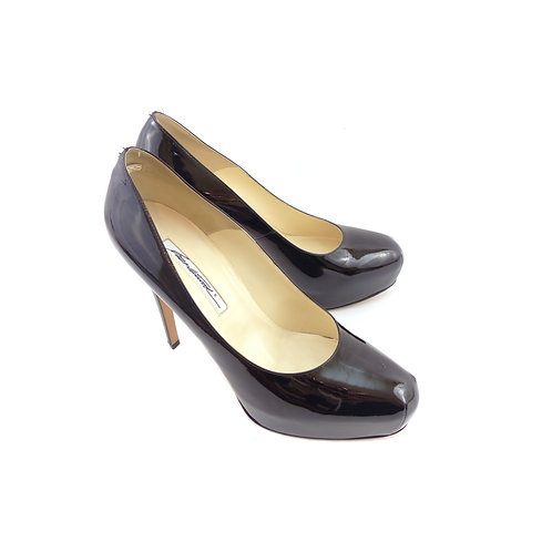 Brian Atwood 'Maniac' Black Patent Leather