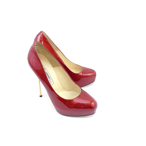 Brian Atwood 'Marcella 140' Red Patent Leather