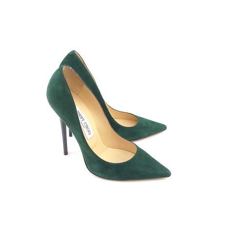 Jimmy Choo 'Anouk' Evergreen Suede