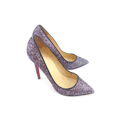 Christian Louboutin 'Pigalle 120' Rose Antique Glitter