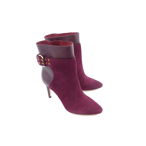 Jimmy Choo 'Major 85' Bordeaux Suede and Calf Leather Ankle Boots