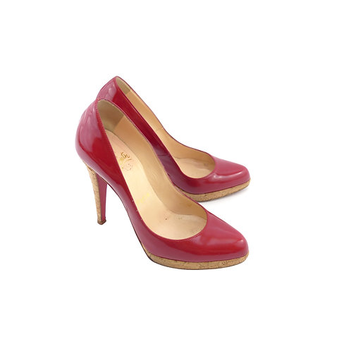 Christian Louboutin 'Decolzep' 868 Red Patent Leather