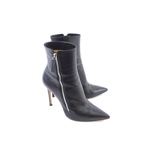 Gianvito Rossi 'Drew' Black Leather Ankle Boots