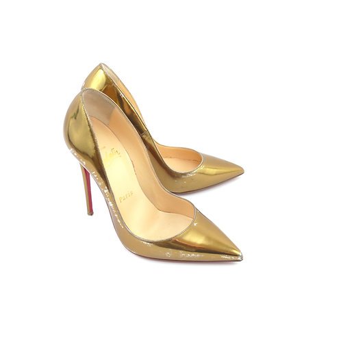 Christian Louboutin 'So Kate' Bronze Specchio Leather