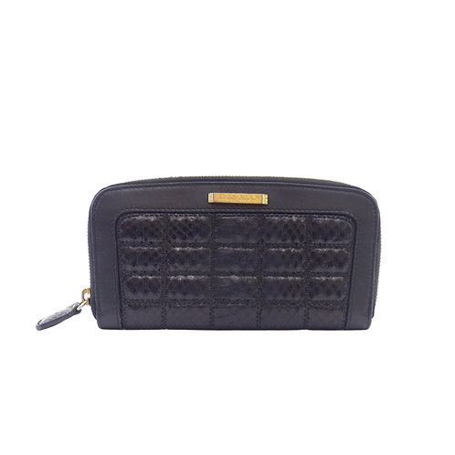 Jimmy Choo 'Faith' Black Quilted Soft Box Leather Purse