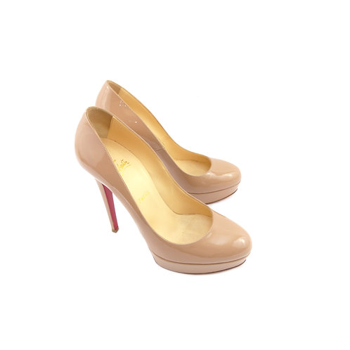 Christian Louboutin 'Bianca 140' Nude Patent Leather