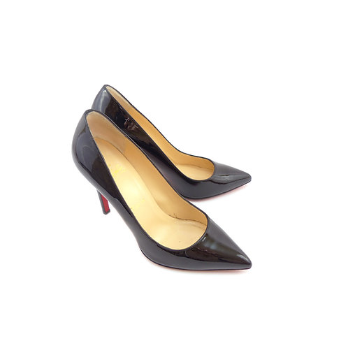 Christian Louboutin 'Pigalle 100' Black Patent Leather