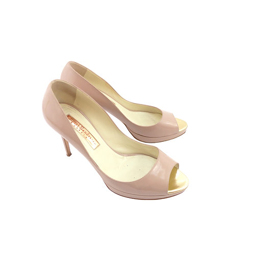 Rupert Sanderson 'Chastity' Nude Patent Leather