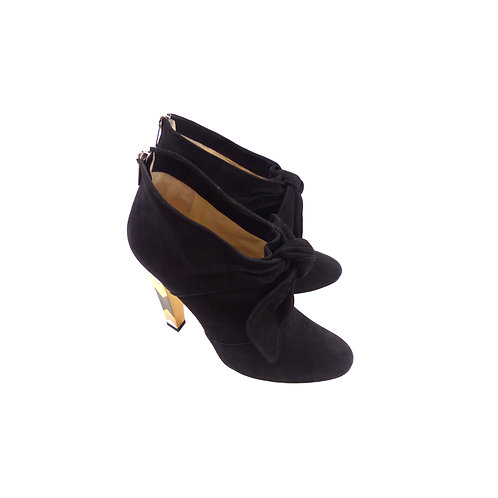 Jimmy Choo 'Erica' Black Suede Booties