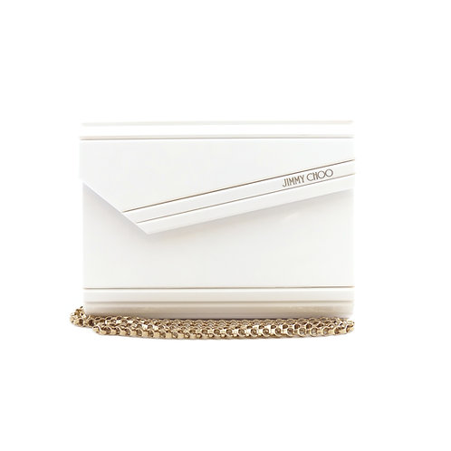 Jimmy Choo 'Candy' White Acrylic Clutch Bag