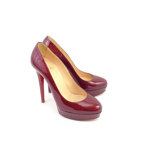 Christian Louboutin 'Bianca 140' Rouge Metal Patent Leather