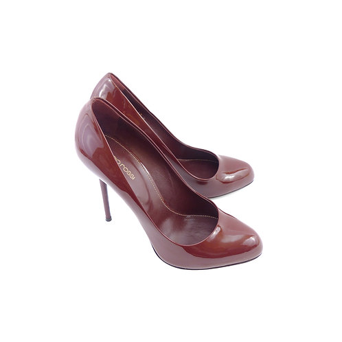 Sergio Rossi 'Kalika' Burgundy Patent Leather