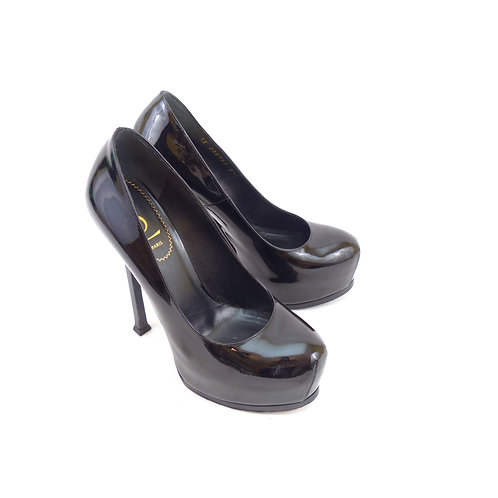 YSL 'Tribtoo' Black Patent Leather