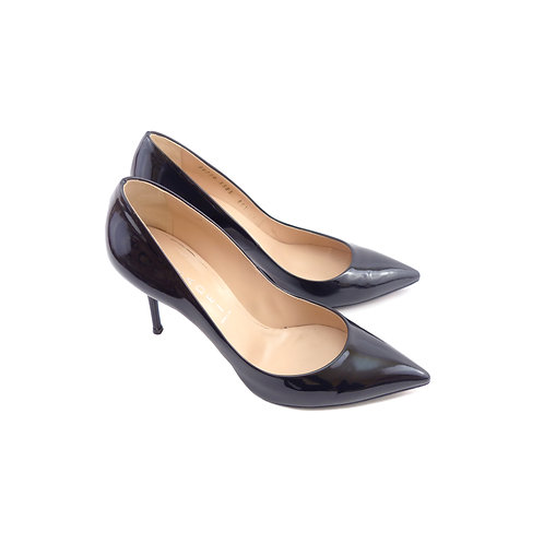 Casadei 'Tiffany' Black Patent Leather