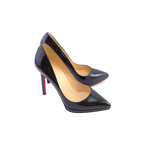 Christian Louboutin 'Pigalle Plato' 120 Black Patent Leather