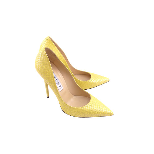 Jimmy Choo 'Anouk' Yellow Pearlised Printed Leather