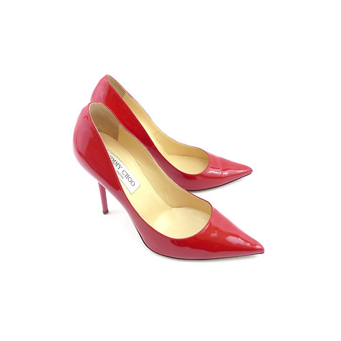 Jimmy Choo 'Alicia' Red Patent Leather