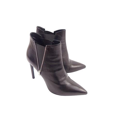 Saint Laurent 'Paris' Black Leather Chelsea Boots