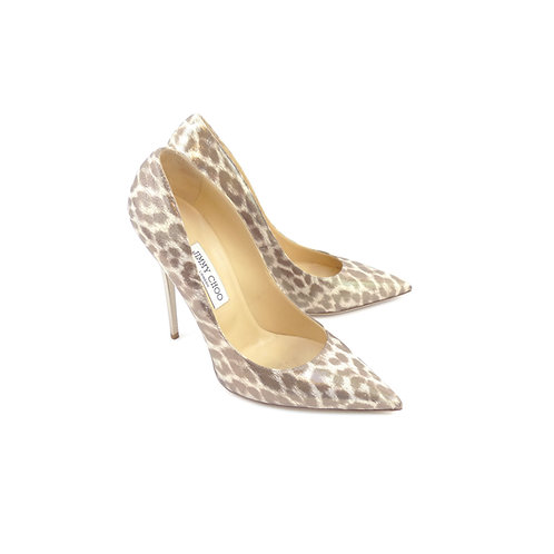 Jimmy Choo 'Anouk' Leopard Shimmer Textured Leather