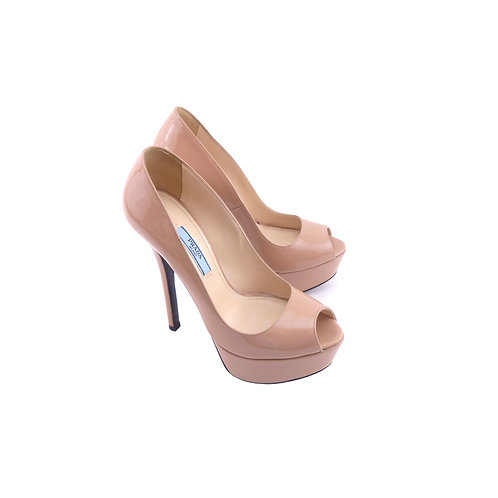 Prada '1KP370' Nude Patent Leather
