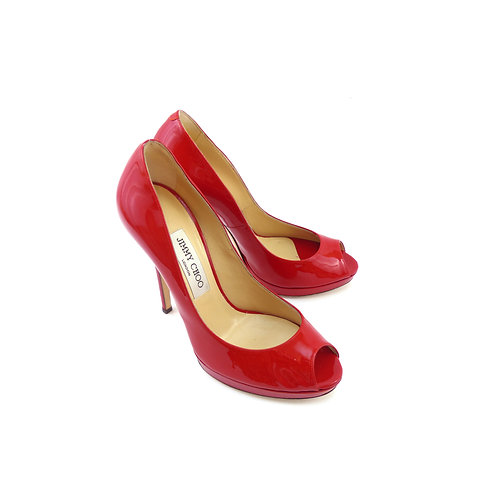 Jimmy Choo 'Quiet' Red Patent Leather