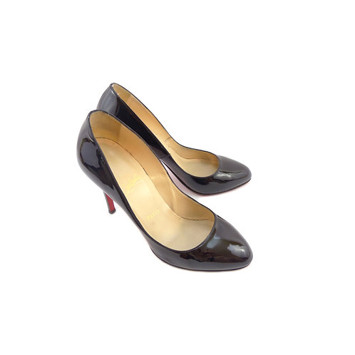 Christian Louboutin 'Clichy 100' Black Patent Leather