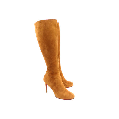 Christian Louboutin 'Simple Botta' 100 Camel Suede