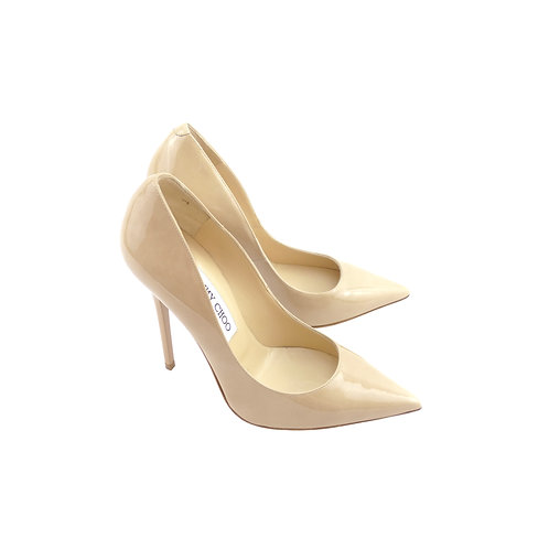 Jimmy Choo 'Anouk' Nude Patent Leather