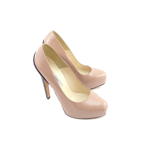 Brian Atwood 'Drama' Nude/Black Patent Leather