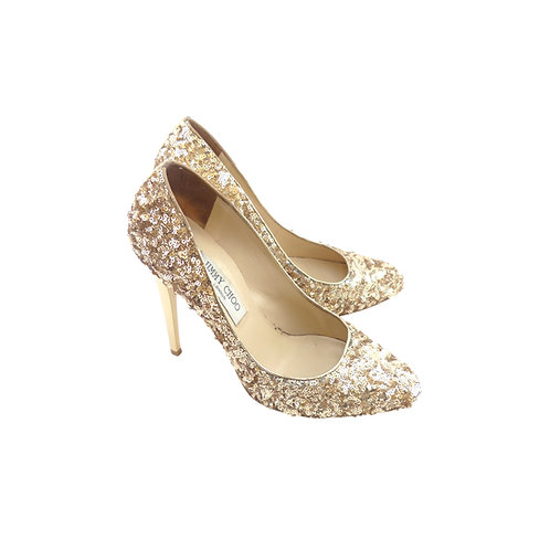 Jimmy Choo 'Victoria' Gold Sequins