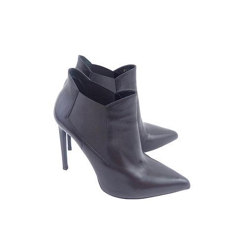 Saint Laurent 'Paris' 110 Black Leather Chelsea Boots