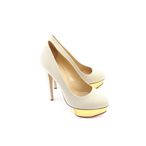 Charlotte Olympia ' Dolly' Sand Canvas