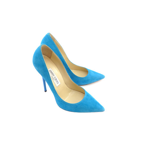 Jimmy Choo 'Anouk' Turquoise Suede