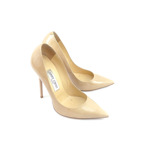 Jimmy Choo 'Anouk Nude Patent Leather