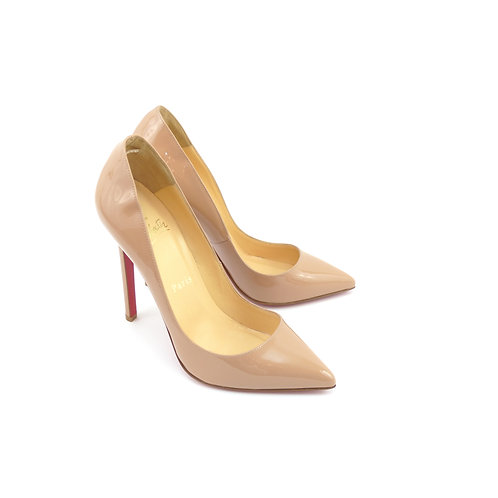 Christian Louboutin 'Pigalle 120' Nude Patent Leather