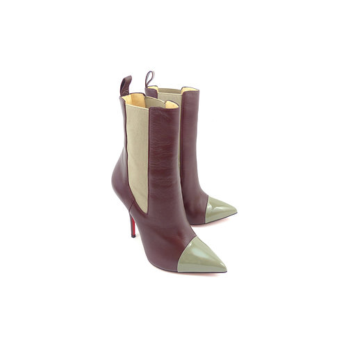 Christian Louboutin 'Tucson' Lie De Vin Kid Leather Ankle Boots