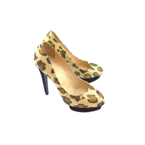 Charlotte Olympia 'Dolly' Leopard Cotone / Black Velukid