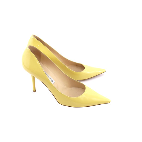 Jimmy Choo 'Agnes' Buttercup Patent Leather